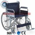 aço dobrável cadeira para pacientes com deficiência cadeira de rodas manual