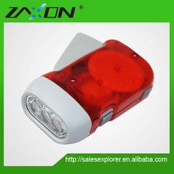 3 led mini led dynamo flash light