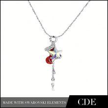 Guang Zhou Wholesale Heart Pendant Necklace Jewellery Scarf