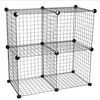 4 cubes folding metal storage cabinet ,each cube stands for 10kg (FH-ALW0016)