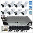 Sony Effio-e 700tvl Outdoor Bullet CCTV & 8CH H.264 Security Camera DVR Kit System