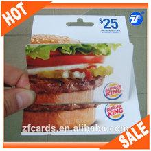 Full Color printing Cheap Plastic Gift Card Printing