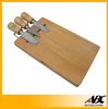 3pcs Cheese Knife With Pine Wood Cutting Board