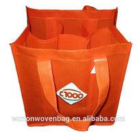 6 bottles non-woven promotional wine glass carrier bag