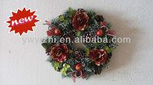 30cm Hot Sell Factory Christmas Flower Wreath Supplies