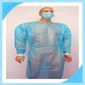 de suministro de grandes shipshape desechables bata quirúrgica para el laboratorio de virología