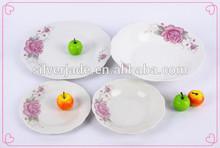 FDA eco-friendly flower gift 72 pcs dinner set brands wholesale ceramic