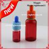 red eliquid bottle colored glass bottles sale childproof tamper dripper cap