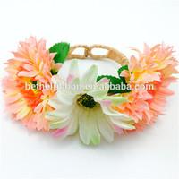 Holiday artificial hawaiian flower bridesmaid bracelet daisy flower