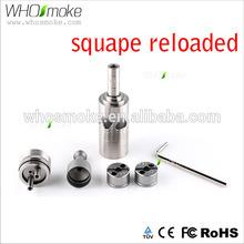 Whosmoke wax vaporizer rebuildable rda tank rda atomizer squape reloaded 1:1 clone reloaded rda quicksilver