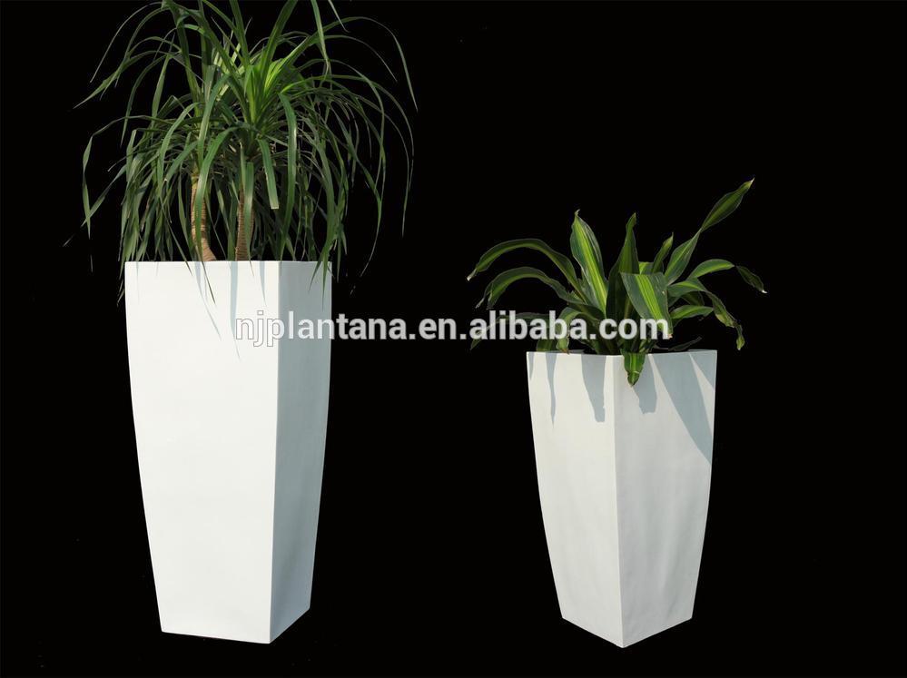 Large White Tall Planter Pots Fiberglass Pots View Large
