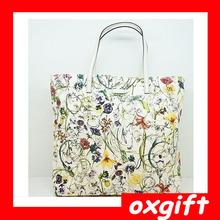 OXGIFT Fashion Women's Casual Canvas Hand-Printed Bag Tote Handbag Girls Shoulder Bag
