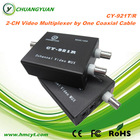 coaxial cable video multiplexer transmitter and receiver in one coaxial cable transmission to 600M