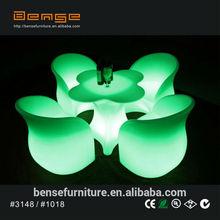 elegant LED furniture coffee shop furniture LED chairs