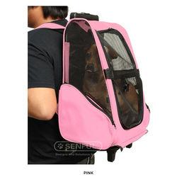 Dog Transport Cage Pet Trolley pink Pet carrier