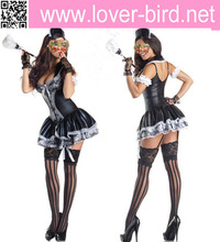 loverbird Newly Women Halloween Patchwork Dress Saloon Girl Costume Cosplay Sexy Burlesque Costumes