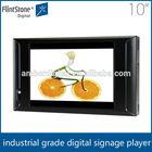 Flintstone 10 inch small TFT lcd/led digital monitor,plastic case shelf hanging touch screen kiosk video player