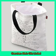High qualitty recycling promotional organic cotton shopping bag