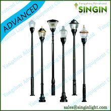 steel aluminum new energy pole garden lighting good quality led solar garden light