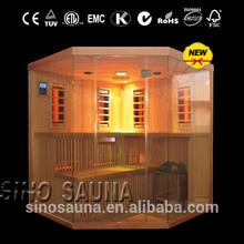 New Combination Sauna Traditional Sauna House & Far Infrared Sauna Room For 6-8 Person