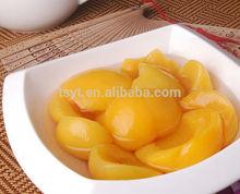 China tin canned yellow white peach