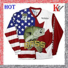 Custom Dye Sublimated Fishing Jerseys fishing tshirt