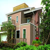 Excellent weatherability faux brick single color building wall coatings