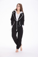New arrival onesie jumpsuit one piece jump in suit zipped hoodie jumpsuits for women 2014