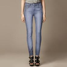 2014 Autumn Hot Selling Light Blue Women Pencil Jeans Pants