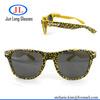 Leopard printing wayfarer sun glasses whole print promotion eyewear advertising custom logo sunglasses OEM plastic hinge sunglas