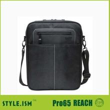 Long single stape black laptop messenger bag