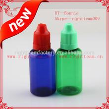 30ml certification Colored childproof cap e liquid bottle childproof/tamperproof cap sharp tip