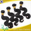 venta al por mayor de fábrica sin procesar 6a primas cabello humano extensión de cola de caballo