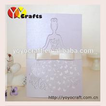 "Wholesale laser cut ""birde""shape wedding invitation card with RSVP card/Thank you card"