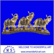best selling golden resin elephant sculpture for sale