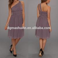 OEM service supply sexy prom dress chiffon one shoulder dress patterns