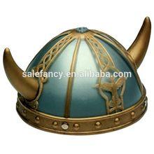 Cheap New Plastic Nordic Child Adult viking helmet wholesale Warrior Helmet Hat for Costume QHAT-2108