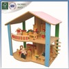 curved railing wooden doll house