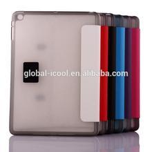TPU+PU stand leather case for ipad mini 2 with card slot
