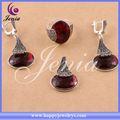 china alibaba fornecedor qualidade superior tailandês prata zircão vermelho africano jóias bridal sets 0713t7
