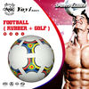 official size 5 rubber soccer ball with golf surface