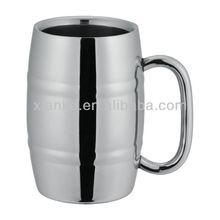 American Style Stainless steel wine cup mug beer barrel