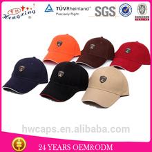 Custom new design high quality black and orange baseball cap