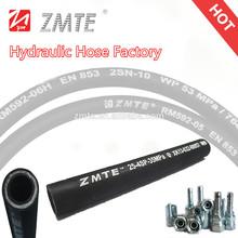 ZMTE EN856 4SP Steel Wire Spiral Hose / High Pressure 3 Inch Rubber Hose Pipe