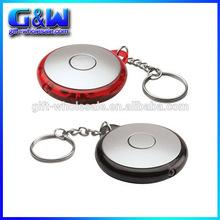 Custom logo airplane keychain plastic keyring circle acrylic souvenir led keychain lights,mini flashlights for charter flight