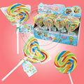 85g grande del arco iris lollipop& ronda en forma de corazón hecho a mano caramelo del lollipop