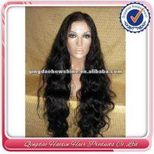 Hot Beauty Brazilian Virgin Hair Silk Skin Top Lace Wig With Human Hair