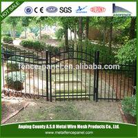 Powder Coated decorative garden wrought iron fence