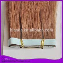 Hot sale Indian hair tape hair seamless 100% handtied pu skin weft