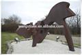 Vintage hot de noël jardin nouveau produit corten acier os sculpture